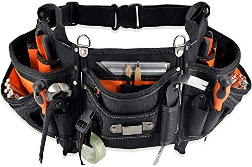 WELKINLAND 18-pockets Carpenter tool belt, Carpenter s Tool belts, Construction tool pouch, HVAC tool belt, Tool belts, Tool belt pouch, Small tool pouch, Tool pouches, Tool belts for men carpenter