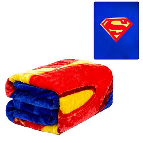 Superman Decke - 201cm x 241cm S logo Superheld Superman Überwurf Decke
