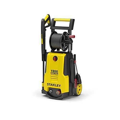 STANLEY SHP1900 Electric Pressure Washer 1900 Max PSI, 1.3 GPM, Comes with: Spray Gun, High/Low, Turbo Nozzle Wand, 20' Hose, 28 oz Detergent Tank and Hose Reel