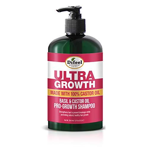 Difeel Ultra Growth Basil & Castor Oil Pro Growth Shampoo 12 oz