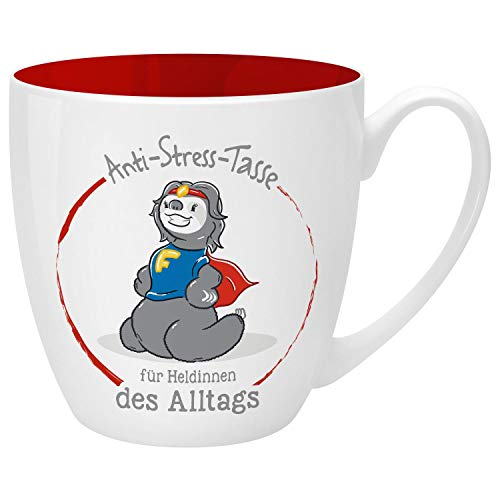 Gruss und Co 46265 Anti-Stress Heldinnen, 45 cl, Geschenk, Kaffeebecher Tasse, New Bone China