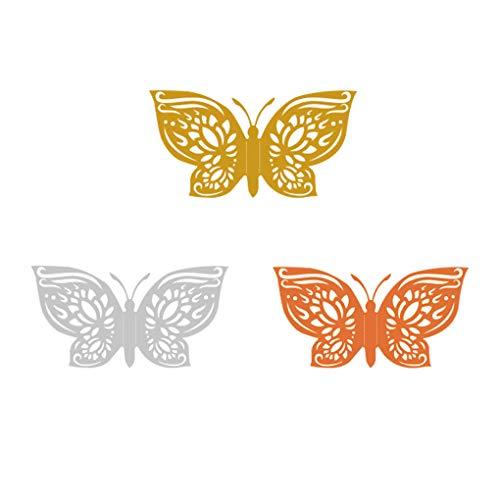 Pegatinas de Pared de Insectos en Forma de Pared Adhesivos de Huecos de cartón Adhesivos para la decoración del hogar, LK03-Oro