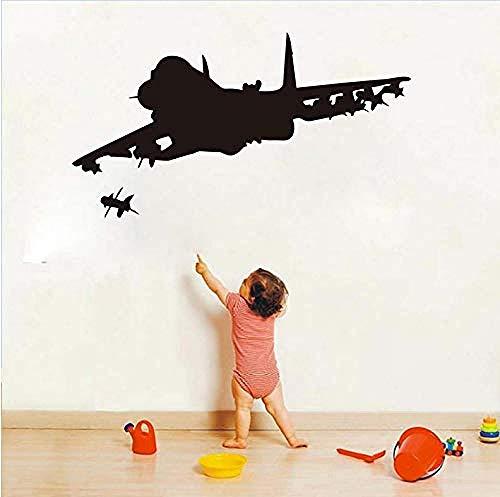 Zelfklevende Muurstickers Waterdichte Cartoon Kinderen S Speelgoed Vliegtuigen Vinyl Muurstickers Vliegtuig Silhouette Behang Jongen Kinderen S Kamer Huisdecoratie 78X43Cm