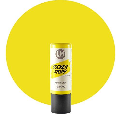 Laurenz & Morgan Socken Stopp 82ml (Gelb) Socken Stopp Anti Rutsch, ABS Antirutsch, Sock Stop Creme, flüssige Sockensohle, Rutsch-Stop, Sockenstopper Farbe
