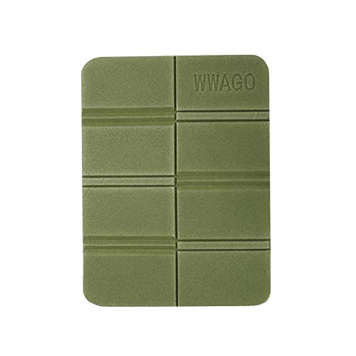 Azul/verde militar, cojín exterior de espuma plegable, portátil, impermeable, resistente a la humedad, con bolsa de almacenamiento
