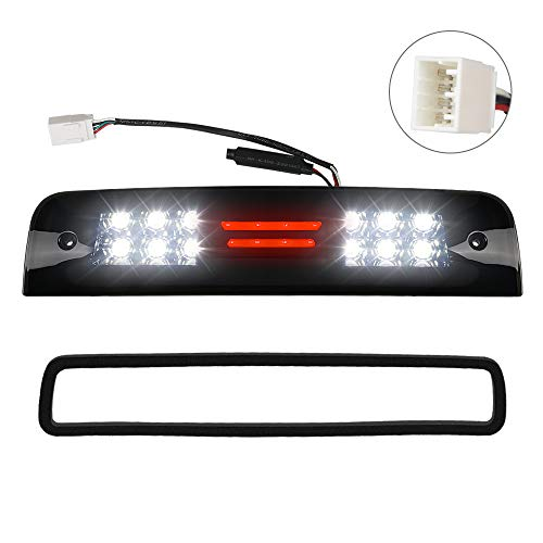 Urite2GO LED 3rd Third Brake Light Smoke housing Compatible with 2009-2018 Dodge Ram 1500 2500 3500 High Mount Stop Lamp Assembly