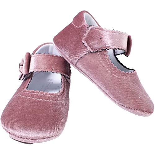 PANYNO Ballerina Schuhe für Kinderbett, Samt, Antik-Rosa, A2504R, Pink - Rosa - Größe: 18 EU