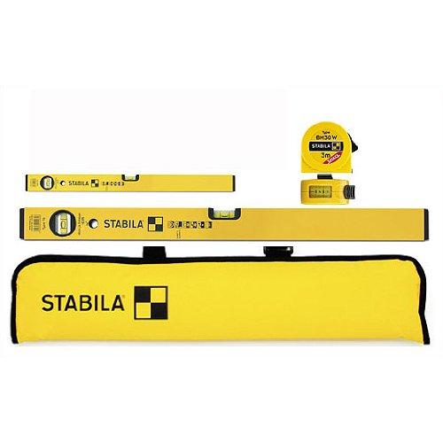 Stabila kastenprofile Wasserwaage Typ 70–80cm Klebeband und 180cm Dritte Alter und Tasche, 4-teilig