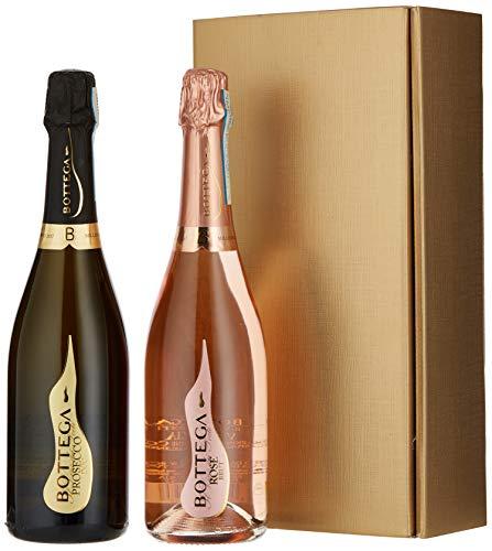 Le Bon Vin Vintage Prosecco and Sparkling Rose Wine Gift Set, 75 cl (Case of 2)