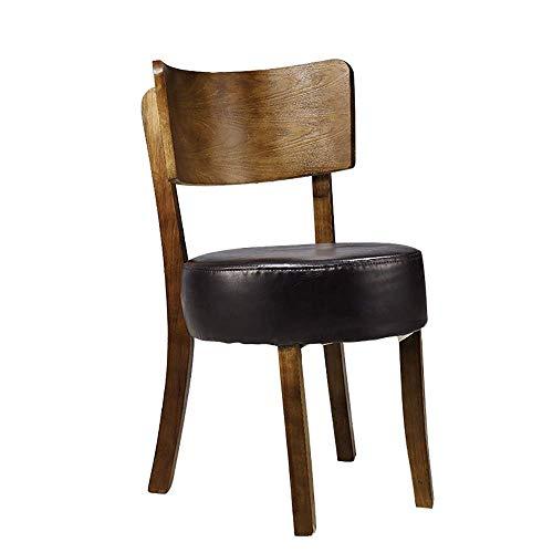 HYY-YY Dining Chair 2 Sedie casual telaio in legno massello Dining Chair morbido e confortevole spugna ad alta densità sedile idoneo for sedie cucina del ristorante (Colore: Nero, Dimensione: 50cm x 4