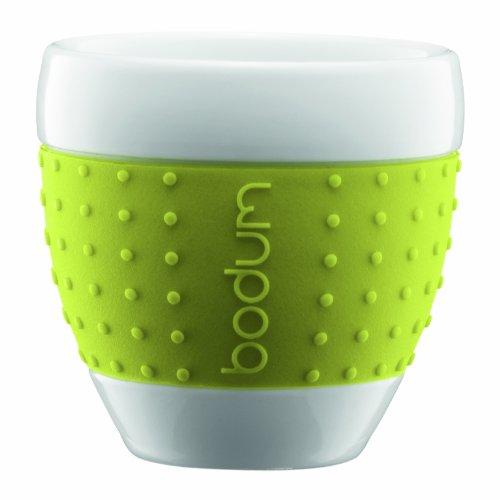 Bodum 11184-565 Pavina 2 Stück Tasse, 0,25 L, Porzellan, Limettengrün