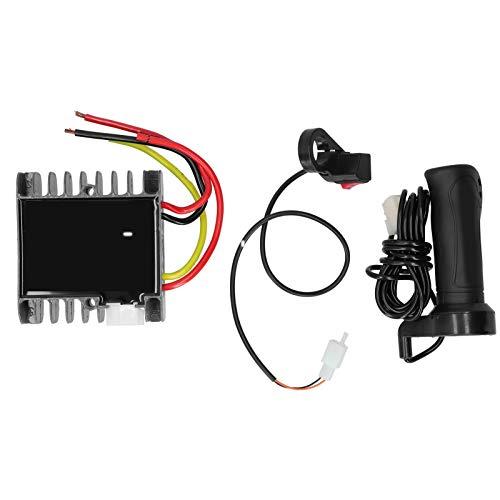Pwshymi Triciclo eléctrico 48‑60 V 1500 W Juego de Controlador con Interruptor de Avance y Retroceso y Mango para Triciclo de Scooter eléctrico