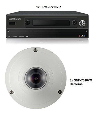 SS320 - SAMSUNG SRM-872 8 Kanal CCTV Mobiler Netzwerkvideorekorder 1 TB H, 264 MJPEG POE + 8 x SNF-7010VM Kameras Fischaugenobjektiv 3 MEGAPIXEL POE IP66 SYSTEM für Boote, Busse, TRAINS, PLANES ETC