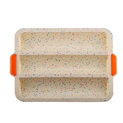 3D-Silikon-Form Für Kuchen,Antihaft-Silikon-Baguette-Pfanne Zum Backen Von Französischem Brot 3-Wellen-Brote-Backform