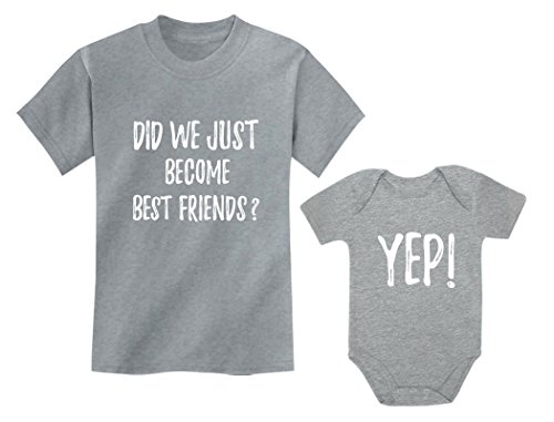 Big Brother/Sister Little Brother/Sister Set Gift for Siblings Baby & Toddler Child Gray 2T / Baby Gray 6M (3-6M)