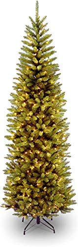 National Tree Company Pre-lit Artificial Christmas 19 Foot Kingswood Fir Pencil Tree, 7.5 ft, Green