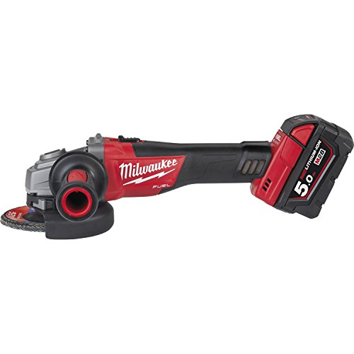 Milwaukee M18 CAG-115 X/5,0 Ah + HD Box FUEL haakse slijper