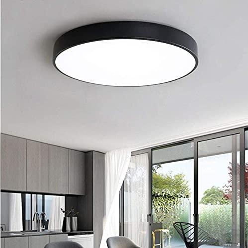 dfff Luces de Techo Sala de Estar Lámpara de Techo Regulable Moderna Lámpara de Dormitorio empotrada 24W Gnelier Redondo para Ki