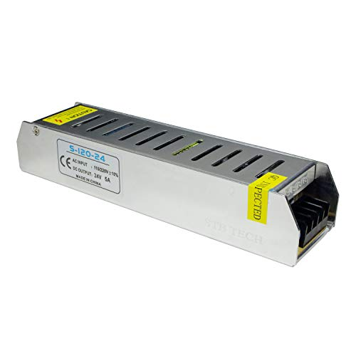 STBTECH 24V 5A 120W Fuente de alimentación conmutada 220V AC a DC 24V transformador convertidor Voltaje Adaptador Para Tira de LED Light,Pantallas LED,Sistema de Vigilancia