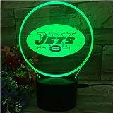 LED 3D USB Veilleuse 7 Changement De Couleur Sports Rugby USB Lampe De Table De Bureau LED Sports Fans Cadeaux Éclairage Décor À La Maison