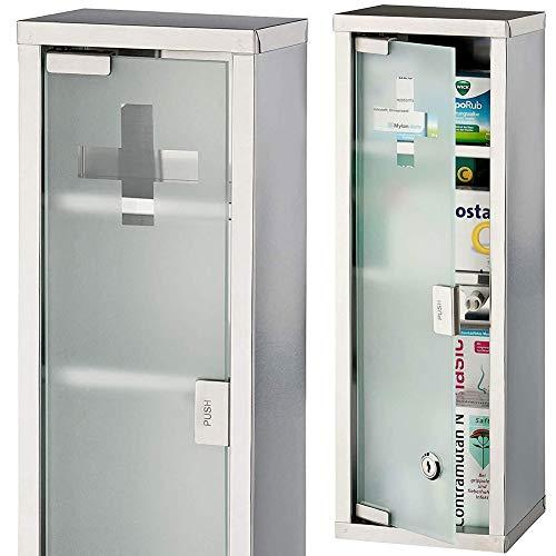 MultiStore 2002 - Armario de Pared para baño, Color: Plateado (53986)