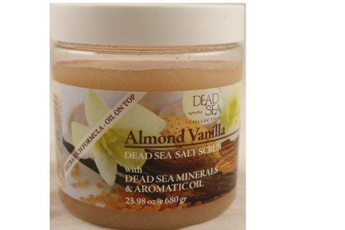Dead Sea Salt Scrub Almond Vanilla with Aromatic Oil