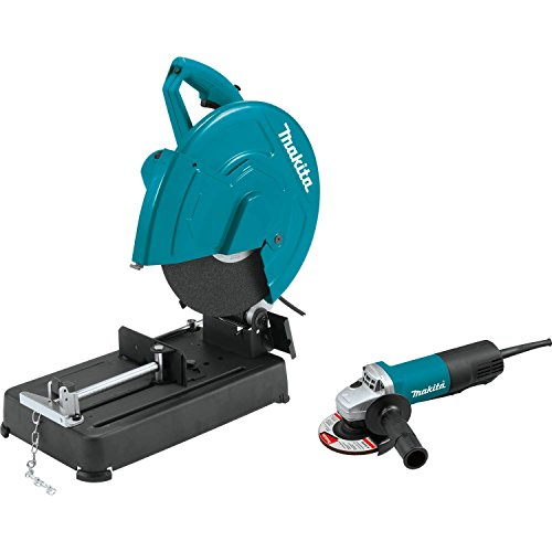 """Makita LW1401X2 14"""" Cut-Off Saw with 4-1/2"""" Paddle Switch Angle Grinder"""