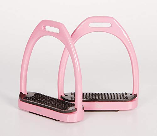 Harry´s Horse Steigbügel Aluminium Color, Farbe:rosa, Größe:11cm