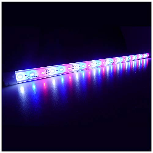 LTRGBW 5730 SMD 12V DC 18 LED super heldere aquarium LED-strip lichten waterdicht schijnwerper aluminium LED lineaire verlichting - kastje LED-bar lamp (rood + blauw + wit) 50CM Red+Bule+Weiß