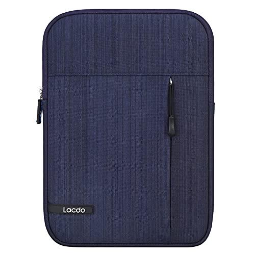 Lacdo Tablet Sleeve Case for 10.2-inch New iPad 2021-2019 | 11 inch New iPad Pro | 10.9 inch New iPad Air 4 | 10.5 inch iPad Pro | iPad Air 3 2 | 9.7 iPad 6 5 4 3 2 | Galaxy Tab A7 Protective Bag,Blue