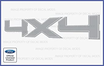 Decal Mods 4x4 Decals Stickers for Ford F150 Metallic Silver - CMS (2009-2014) Set of 2