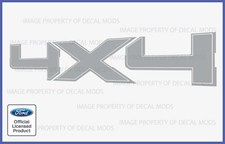 Decal Mods 4x4 Metallic Silver Decals Stickers Truck Bedside for Ford F150 - CMS...