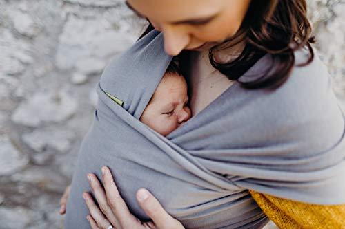 ボバラップベビーキャリア、独自の伸縮性の抱っこ紐、新生児と15kgまでの赤ちゃんに最適(Grey)