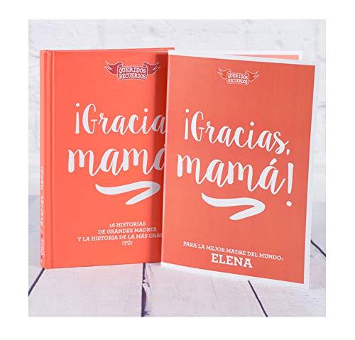 Madre: Libro 'Gracias, mamá' con Tarjeta Personalizada