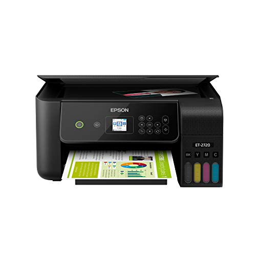 Epson EcoTank ET-2720 Wireless Color All-in-One Supertank Printer with Scanner and Copier - Black Montana