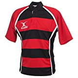 Gilbert - Xact hoops red black - Maillot de rugby - Rouge - Taille XXS