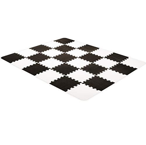 kk Kinderkraft Manta Juegos Bebé LUNO, Alfombra Puzzle de Espuma, Blanco/Negro