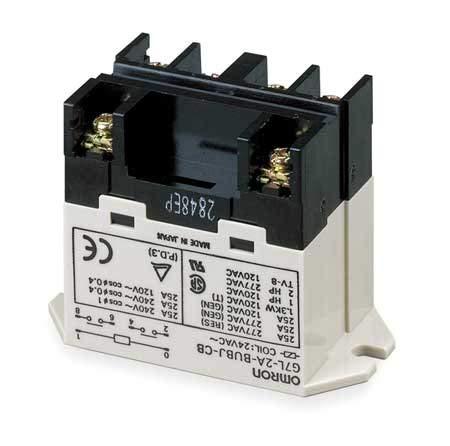 Enclosed Power Relay, 6 Pin, 24VDC, DPST-NO