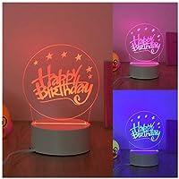 3Dイリュージョンナイトライト 誕生日プレゼント 子供のための3Dランプ照明7LED色変更タッチテーブルデスクランプクールなおもちゃギフト誕生日目の錯覚ランプクリスマスの装飾