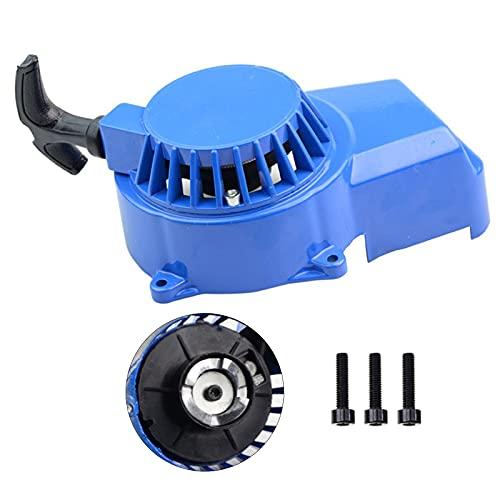 GOOFIT Tire del arrancador de aluminio reemplazo reemplazo para 47cc 49cc 2 tiempos ciclomotor y scooter ATV kart con tornillo azul
