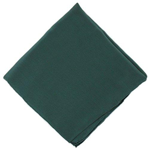 Un mouchoir en soie verte unie Michelsons
