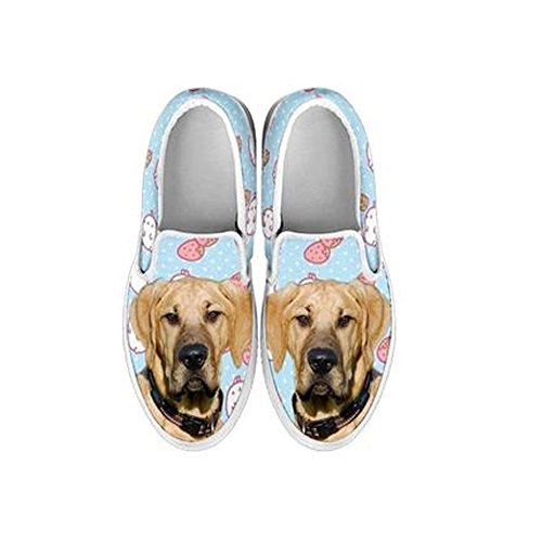 Women's Slip Ons - Amazing Dogs Print Slip Ons Shoes for Women (Choose Your Breed) (9, Broholmer Dog)