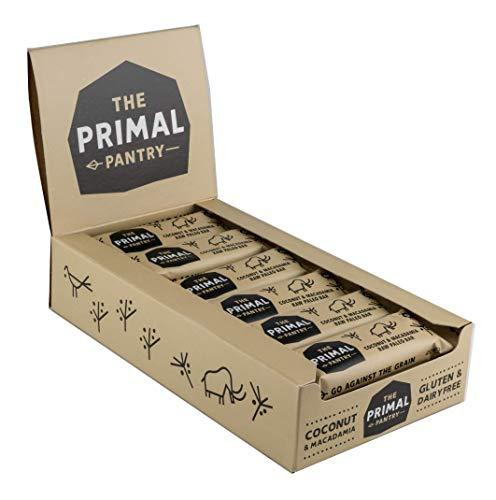 The Primal Pantry Energieriegel (Kokos & Macadamia) - köstlicher Fruchtriegel - Nussriegel - ohne Zuckerzusatz, vegan, laktosefrei, weizenfrei und glutenfrei