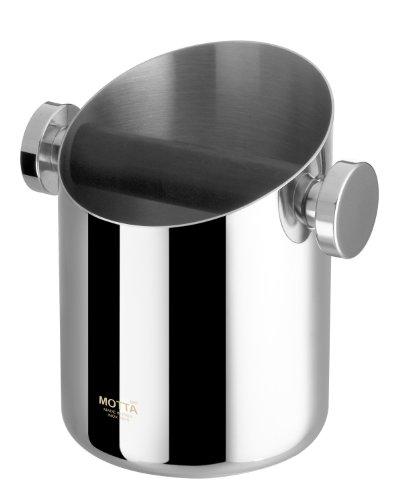 Motta 7750 – Caja para los posos de café (Acero Inoxidable, 10,5 cm)