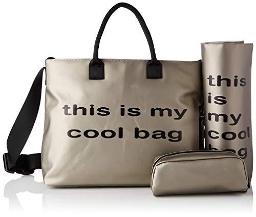 Be Cool Mamma Bag Bolso Cambiador con Anclaje Universal, con Estuche Isotérmico para Biberones, Varios Bolsillos, Color Silver