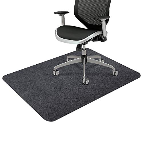 Office Chair Mat, Upgraded Version - Office Desk Chair Mat for Hardwood Floors, 1/6' Thick 55'x35' Hard-Floor Protector Mat, Multi-Purpose Chair Carpet for Home (Dark Gray)
