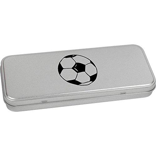 Azeeda 180mm x 75mm 'Hand Gezeichneter Fußball' Blechdose / Aufbewahrungsbox (TT00029321)