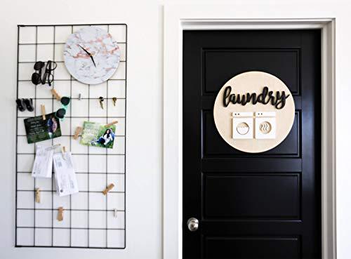 Ced454sy 3D Hout Wasruimte Teken Huishoudelijke Gift Wasserij Kamer Decor Hout Wasserij Teken Wasmachine en Droger teken Huiswarming Gift