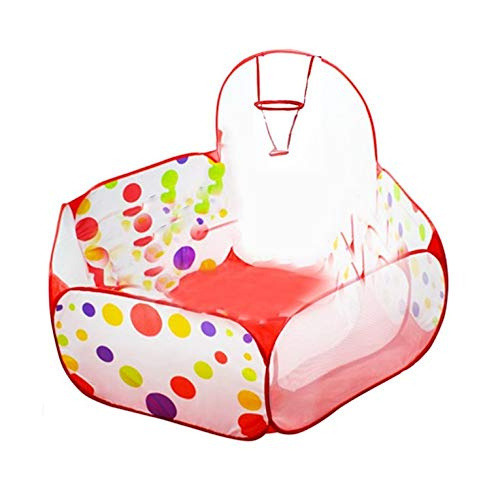 Hexingshan Baby Polka Dot Pattern Foldable Kids Play House Tent Outdoor and Indoor Basketball Tent