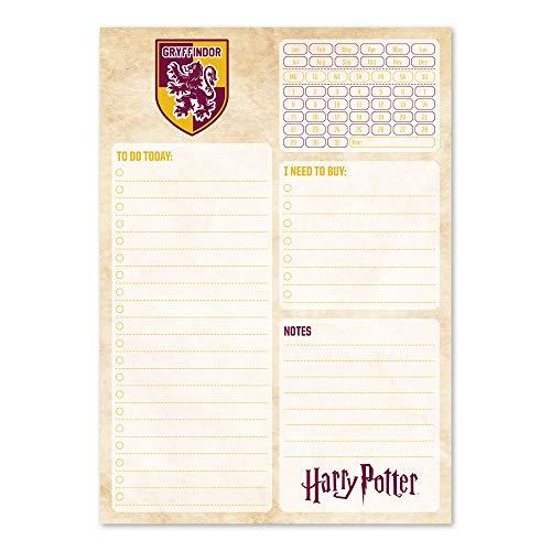 Erik Tagesplaner Block - Terminplaner A5 Harry Potter Griffindor - Kalender Planer A5 ohne festes Datum